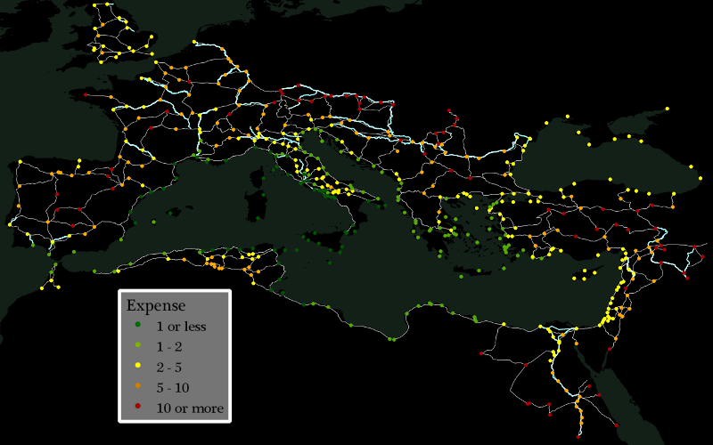 Expense to Ship to Rome, by Site
